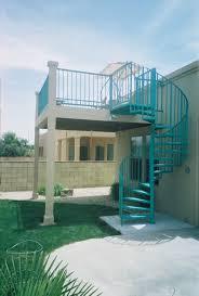 striking outdoor spiral staircase design connect ground floor