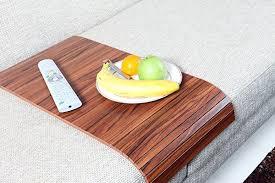 amazon com sofa tray table long canadian walnut sofa arm