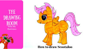 how to draw scootaloo my little pony how to draw cute animals