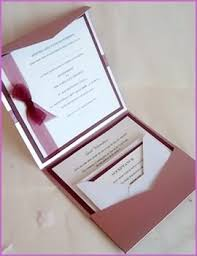 Wedding Invitation Pocket Envelopes Pocket Fold Wedding Invitations Four Different Types Of Stationery