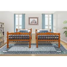 Solid Oak Bunk Bed Bright Designs Solid Wood Bunk Bed Oak