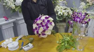 how to make wedding bouquet how to make a bridal bouquet with roses and dendrobium