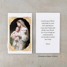 l innocence personalized prayer cards the catholic company
