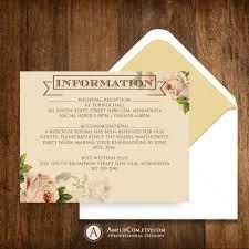 Wedding Invitation Information Card Printable Detail Cards Information Card Direction Cards