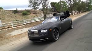 roll royce dawn forgiato rolls royce dawn matte black youtube