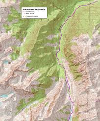 Bent Creek Trail Map 14ers Com U2022 Snowmass Mountain Route Description East Slopes
