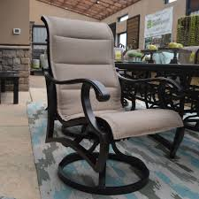 Patio Furniture Dallas Tx Mallin Volare Padded Sling Swivel Chair Outdoor Furniture