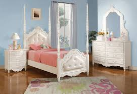 Full Bedroom Pearl White Twin Bed