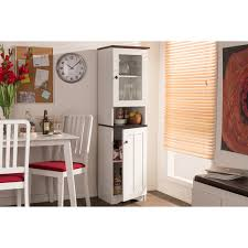 lauren buffet and hutch kitchen cabinet white wenge dcg stores