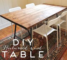 make a dining room table from reclaimed wood a new bloom diy reclaimed wood dining table dining room