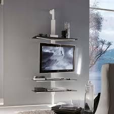 porta tv soffitto porta tv orientabile kino con piani in cristallo arredaclick