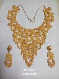 new gold set fancy flower design necklace set at rs 1000 set s gold forming