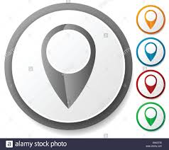 Google Map Marker Map Marker Map Pin Icon Set Location Destination Travel Stock