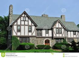 English Tudor Style by English Tudor House Exterior Royalty Free Stock Photography