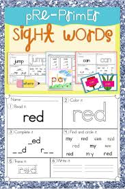 First Grade Sight Words Worksheets 64 Best Sight Words Images On Pinterest Sight Word Activities