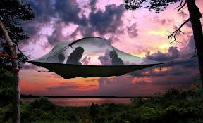 sleep in the trees with this floating hammock tent pics