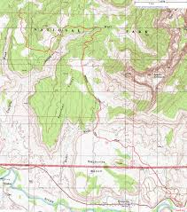 Map Of Utah National Parks by Topographic Map Of The Chinle Trail Zion National Park Utah