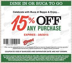 coupons for restaurants 15 buca di beppo march 2015 your restaurant coupons