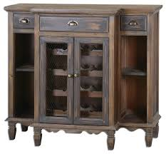 suzette wood wine cabinet farmhouse wine and bar cabinets by
