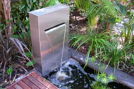 modern outdoor water fountain home design