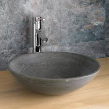 black stone bathroom sink black limestone basin and oak 90cm double cabinet portici