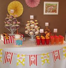 sweet revelry circus dessert table
