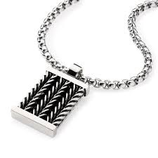 design necklace pendant images Men 39 s stainless steel dog tag pendant necklace with chain inlay jpg