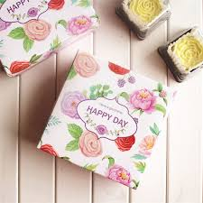 printed gift boxes 30pcs flower printed gift box happy day squre flora flower gift