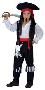 pirate captain age 11 12 13 boys fancy dress kids childs halloween