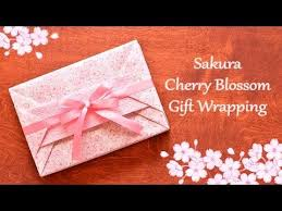 japanese present wrapping video demo tutorial sakura cherry blossom gift wrapping no