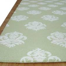 Green Modern Rug Damask Modern Style Floral Loop Cut Green Area Rug Adc Rugs
