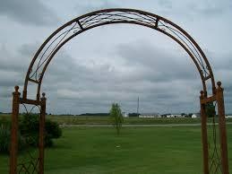 wrought iron skyview arbor flower arch trellis