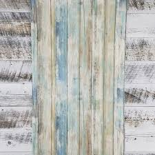 blue distressed barnwood plank wood peel and stick wallpaper