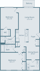 Floor Plan Front View by And Bedroom Apartments In Canton Uptown View Floor Plan Idolza