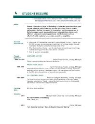 Example Of College Student Resume Example Of Resume For College Student Example Of Resume For