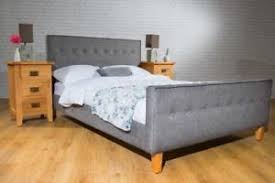 Verona Bed Frame 4ft6 Grey Fabric Upholstered Verona Bed Frame Mail Order