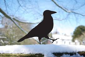 garden ornaments metal garden bird walks black