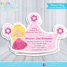 Twins 1st Birthday Invitation Cards Princess Aurora Party Invitations Princesses Sleeping Beauty Cut