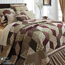 country style bedroom design with country quilt bedding sets
