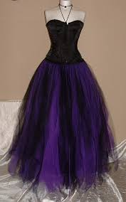 tutu skirt black purple tulle lined wedding maxi gypsy