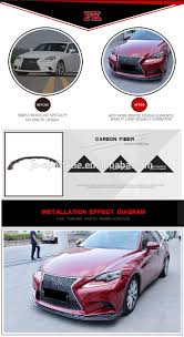 lexus is250 f sport front lip carbon fiber is250 is350 is f car front lip spoiler for lexus is f