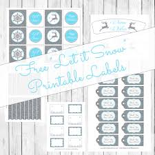 let it snow winter party theme free printables u2013 lemonberrymoon com