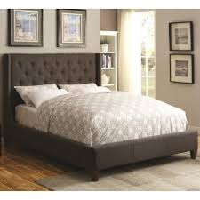coaster upholstered beds upholstered california king bed with tall