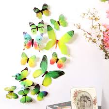 Drop Shipping Home Decor by 12 Pcs Set Diy 3d Butterfly Wall Stickers Fashion Decal Wall