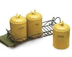 yellow canister sets kitchen yellow white striped ceramic kitchen canister set adorable