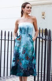 alissa midi occasion gown aquatic ombre evening dresses