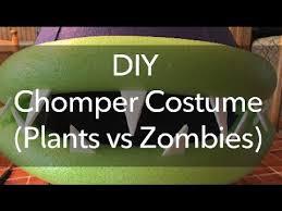 diy chomper costume plants zombies