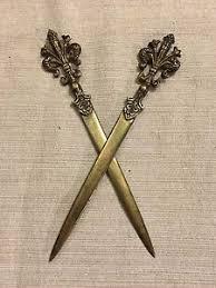 fleur de lis letter opener 2 vintage florence firenze italy dagger letter openers fleur de