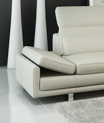White Italian Leather Sofa by 958 Modern Off White Italian Leather Sectional Sofa