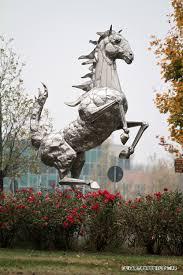 maranello italy ferrari prancing horse sculpture ferrari headquarters